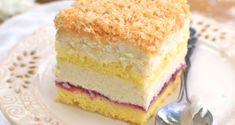 Ciasto Łabędzi Puch Eclairs, Sweets Cake, Cupcake Cakes, Polish Desserts, First Communion Cakes, New Cake, Food Cakes, Homemade Cakes, Yummy Cakes