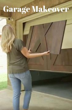 Update your garage door with some simple wood panels or paint. We've all come to accept garage doors as a necessary part of any home, but that doesn't mean they should be an afterthought when it comes to curb appeal. Garage House, Man Cave Garage, Dream Garage, Garage Room, Garage Attic, Garage Shed, Home Renovation, Home Remodeling, Kitchen Renovations