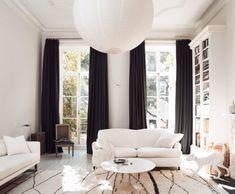 interior designer tom delavans black and white living room in new york. / sfgirlbybay
