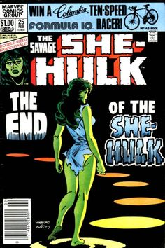 The end of the She-Hulk. Art by Mike Vosburg and Terry Austin.  Auction your comics on http://www.comicbazaar.co.uk