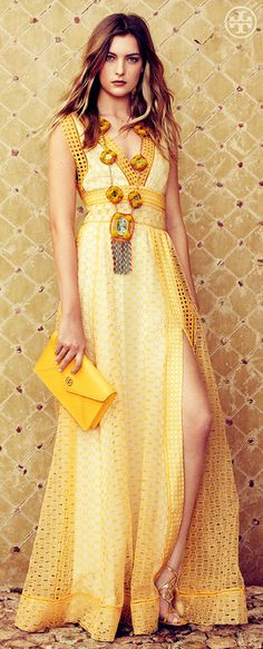 Hello Yellow | Tory Burch Spring 2013...I need a spring wedding to attend to have an excuse to buy this bad boy