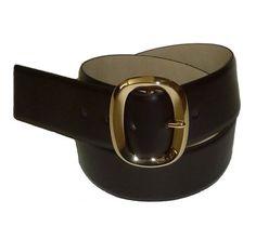 c0c90e93b52d BeltsandStuds Women Wide Fashion Designer Dark Brown Dress Belt with Gold  Buckle XXL 42 Black