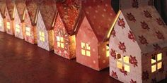 DIY paper house luminary project with free template via Cathe Holden at Just Something I Made. Diy Projects To Try, Crafts To Make, Fun Crafts, Crafts For Kids, Craft Projects, Diy Paper, Paper Crafting, Origami Paper, Free Paper
