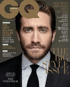 In Black & White: for the inaugural cover of GQ STYLE Australia, Jake Gyllenhaal was photographed in Ferragamo tailoring.