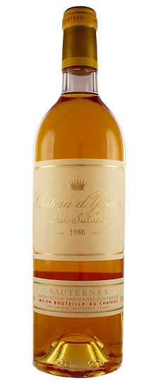 Chateau d'Yquem, Sauternes.  I feel so lucky to have been able to have this wine on several occasions.  Love.
