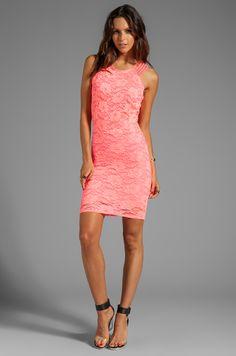 Donna Mizani Passion Multi Strap Dress in Hot Coral