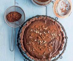 Νηστίσιμητάρτα σοκολάτας χωρίς ψήσιμο | Συνταγή | Argiro.gr - Argiro Barbarigou Food Categories, Sweet Recipes, Tiramisu, Sugar Free, Pie, Gluten Free, Easter, Sweets, Ethnic Recipes