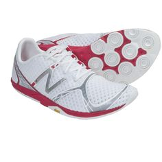New Balance WR00 Minimus Running Shoes (For Women) in White/Silver/Pink