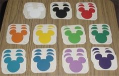 Mickey Mouse Classroom Decorations | Mickey Mouse paint swatches makes a great memory matching game. by ...