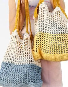 """New Cheap Bags. The location where building and construction meets style, beaded crochet is the act of using beads to decorate crocheted products. """"Crochet"""" is derived fro Bag Crochet, Crochet Handbags, Free Crochet, Knit Crochet, Crochet Beach Bags, Spring Bags, Summer Bags, Cotton Tote Bags, Crochet Projects"""