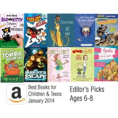 Amazon Editor's Picks Best Books for kids 6-8