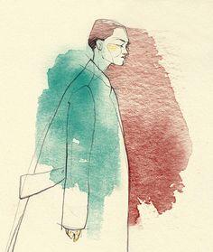 Kind of a WIP II. Watercolor Portraits, Watercolor Art, Adara Sanchez Anguiano, Human Sketch, Sketches Of People, Beautiful Artwork, Painting Inspiration, Graphic Illustration, Illustrators