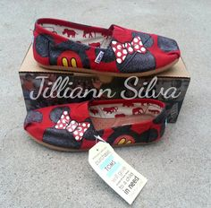 Custom Minnie &/or Mickey Mouse Disney Shoes by eastbaycalifornia