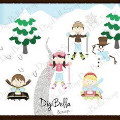 Clipart noel enfants png formats par DigiBella sur Etsy