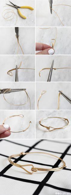 MY DIY | Triangle Wire Bracelet #Wire #Jewelry #Tutorials