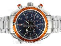 Omega Planet Ocean 007 Quantum Of Solace Edition Working Chronograph with Orange Bezel-Lady Size