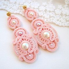Soutache- Pink earrings