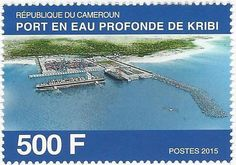 Stamp: Opening of the Deep Water Port at Kribi (Cameroon) Mi:CM 1283