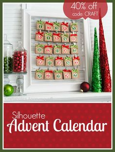 Silhouette Advent Calendar This post is brought to you by Silhouette America. I am affiliated with Silhouette. All opinions are mine! Its time to start thinking about the advent calendar you're going to use this year! Silhouette Advent Calendars