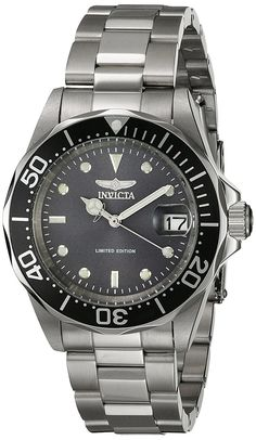 Invicta Watches Mens Pro Diver Automatic Steel Watch >>> You can find out more details at the link of the image.