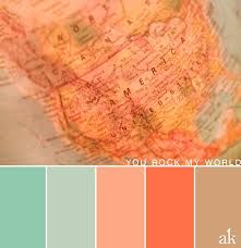 tan and teal color palette - Google Search