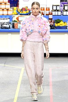 A new take on scrubs by Lagerfeld. Chanel RTW Fall 2014