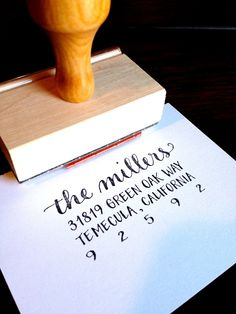 CALLIGRAPHY ADDRESS STAMP -