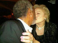 Morgan Freeman & Betty White =)