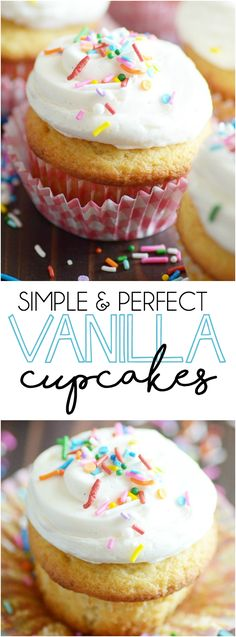 Classic Vanilla Cupcakes are my favorite! And you'll be surprised how easy they are to make from scratch.