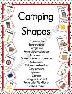 Classroom Camp Theme Ideas | Camping Theme Shape Posters product from CampKindergarten on ...
