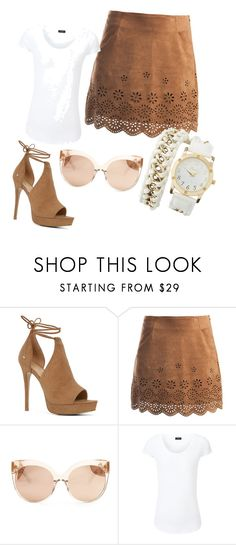 """Untitled #155"" by mirelazenunovic ❤ liked on Polyvore featuring ALDO, Sans Souci, Linda Farrow, Joseph and Charlotte Russe"
