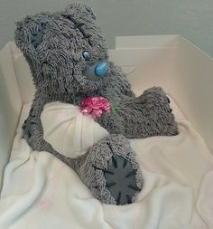 teddy bear get well  Cake by kaykes