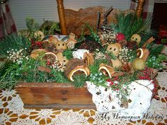 My Homespun Holiday: Gingerbread Christmas part 1