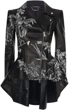 Alexander McQueen Floral Leather Jacket Harrods, the world's most famous department store online with the latest men's and women's designer fashion, luxury gifts, food and accessories Edgy Outfits, Cool Outfits, Fashion Outfits, Womens Fashion, Floral Leather Jacket, Mode Adidas, Alexander Mcqueen, Cute Jackets, Character Outfits