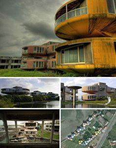 Abandoned pod city in Taiwan