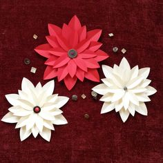 Diy paper poinsettia poinsettia tutorials and free pattern mightylinksfo