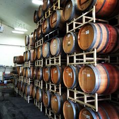Barrel room at Scribner Bend