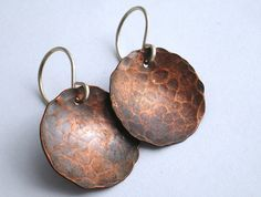 Rustic Copper Earrings by BalsamrootRanch on Etsy, $29.00