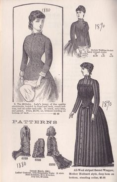 VICTORIAN WOMEN'S DRESSES AND BLOUSES