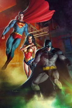 Batman, Superman & Wonder Woman byValzonline