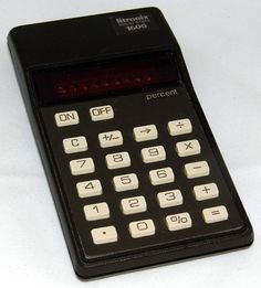 Vintage Litronix 1600 Electronic Pocket Calculator, Made In Malaysia, Red LED Display, Circa 1970s.