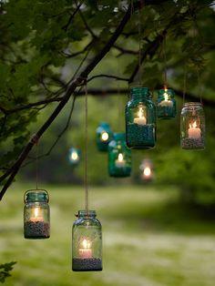 more mason jar weddings we ♥ this! moncheribridals.com #rusticwedding #WeddingMasonJars