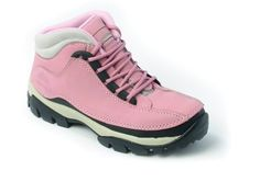 WOMENS LADIES PINK STEEL TOE CAP SAFETY WORK BOOTS 4-8 | eBay