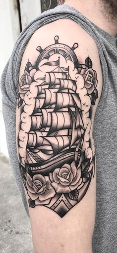 Vintage ship tattoos