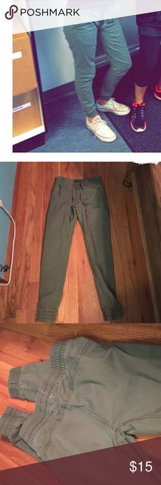Army green joggers Great fit and great condition Brandy Melville Pants Track Pants & Joggers