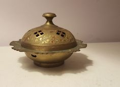 Vintage Brass Censor Made in India by Sarna metal incense burner