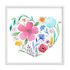 """you make my heart bloom"" - Art Print by lulu and isabelle in beautiful frame options and a variety of sizes."