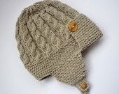 Baby Hat Knitting Pattern PDF with cable design - HARPER. $4.00, via Etsy.