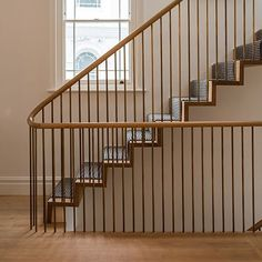 Perfect Living Room Staircase Design Ideas - All About Balcony Stair Railing Design, Balcony Railing, Banister Remodel, Staircase Railings, Staircases, Loft Railing, Bannister, Cabana, Traditional Staircase