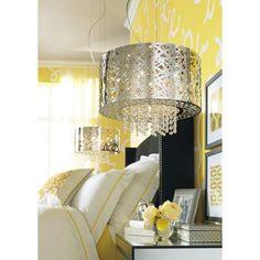 Possini Euro Design Chrome Nest with Crystal Pendant Pendant Chandelier, Crystal Pendant, Clear Crystal, Chrome Finish, Light Fixtures, Euro, Nest, Lamps, Ceiling Lights